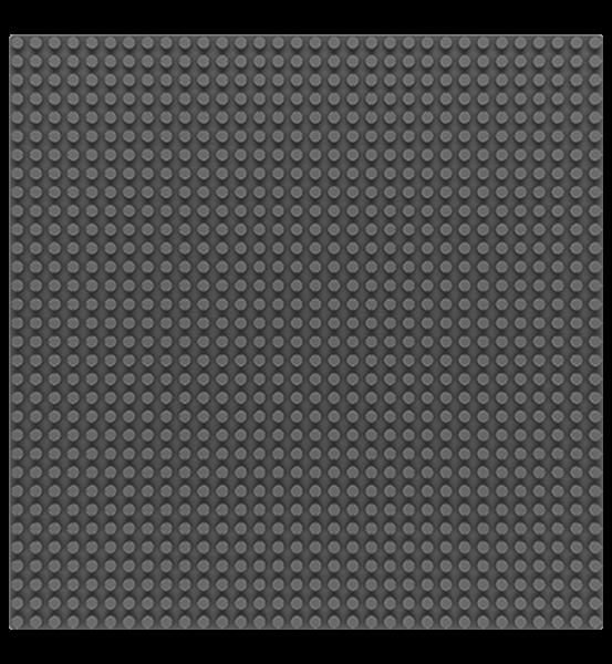 Grundplatte 32 x 32 Noppen - Dark Grey