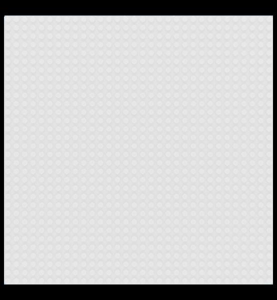 Grundplatte 32 x 32 Noppen - White