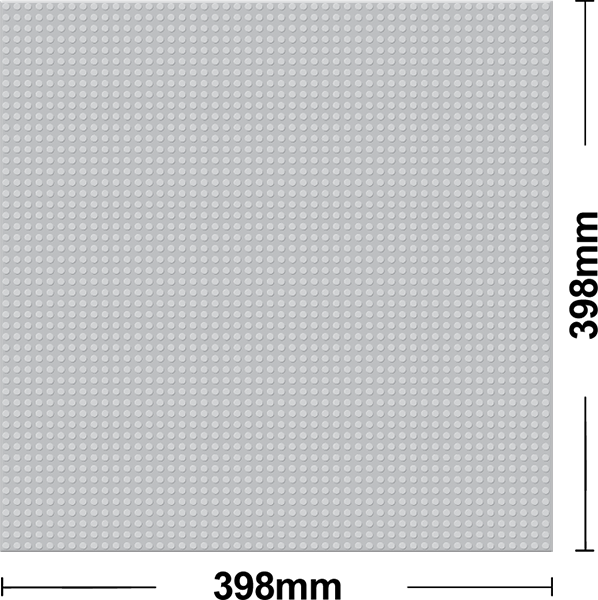 Grundplatte 40 x 40 Noppen - Grey