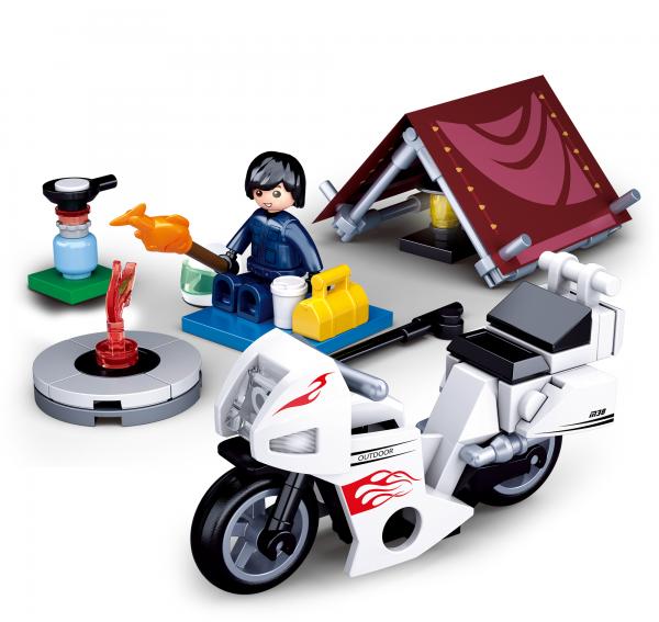 Motorrad Camper