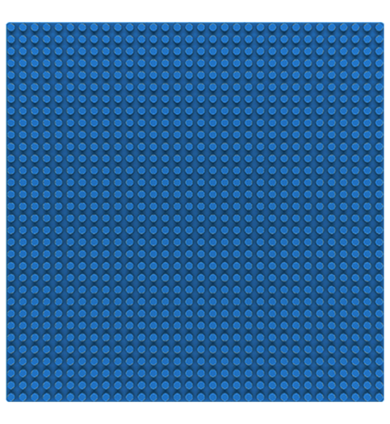 Grundplatte 32 x 32 Noppen - Blue