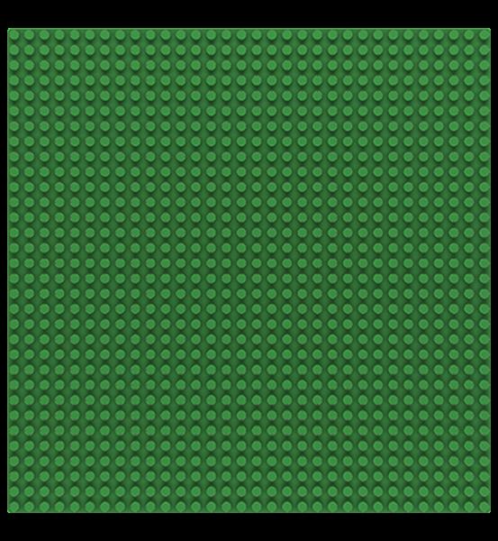 Grundplatte 32 x 32 Noppen - Green