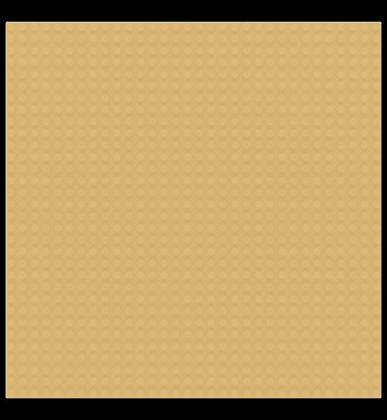 Grundplatte 32 x 32 Noppen - Tan