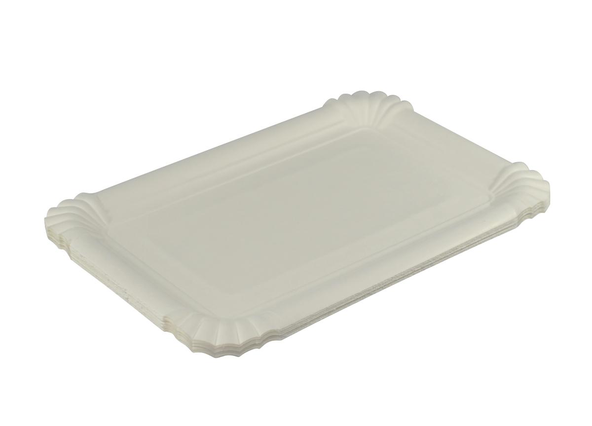 Party Teller Einwegteller 10 x 23 cm weiß 10er Set Pappteller eckig ca
